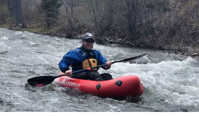 Kayaking Rapid Creek