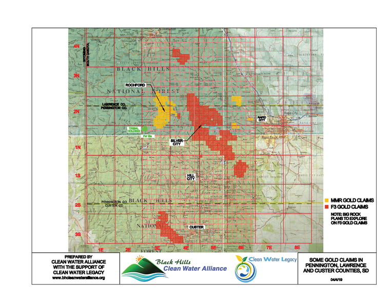 Map Black Hills Gold Claims